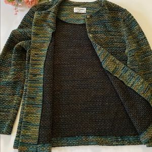 Alfred Dunner Forest Green Chenille Sweater